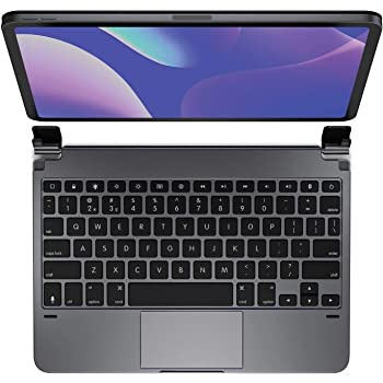 Brydge 11.0 Pro+ Wireless Keyboard with Trackpad | Compatible with iPad Pro 11-inch (2018 & 2nd Gen, 2020) | Backlit Keys | Long Battery Life | (Space Gray)
