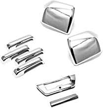 eRushAutoparts Ultra Chrome Mirror+4 Door handle+Tailgate w/Camera Cover For 2016 15-16 Ford F150