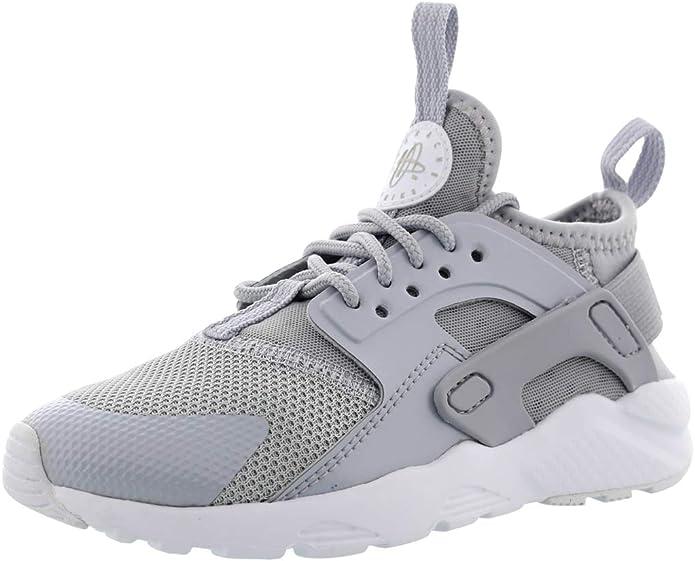 NIKE boys 859593-016 Nike Kids Huarache Run Ultra Ps Wolf Grey ...