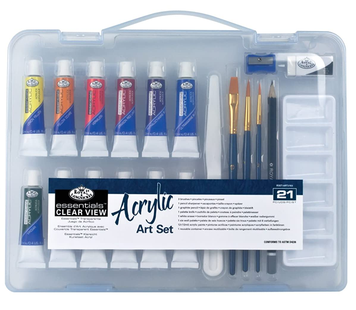 Royal & Langnickel Essentials Clear View Acrylic Painting Set, Small