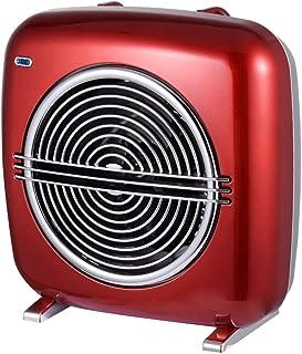 Calentador de ventilador Ardes AR4F07R ROCK con 2 potencias, termostato, operación espía, detalles cromados, carrete de cable, diseño italiano vintage, negro / burdeos