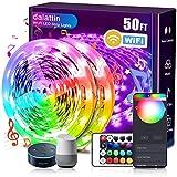 dalattin Smart Led Strip Lights WiFi 50ft, 2 Rolls of 25ft, Compatible with Alexa Led...