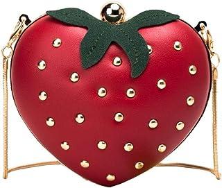 lulongyansf Frauen Umhängetasche Tasche Mini-Handtasche Nette Frucht Erdbeere Crossbody Beutel Sommer-Beutel-Geldbeutel fü...