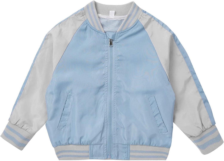 inhzoy Kids Girls Dream Cartoon Horse Printed Jacket Windproof Zipper Active Sports Athletic Coat Tops Outerwear