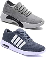 WORLD WEAR FOOTWEAR Men's Multicolor Sports Running Shoes (Set of 2 Pairs)