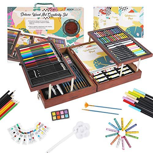 KIDDYCOLOR 149 Piezas Deluxe Art Creativity Set Box para niños principiantes