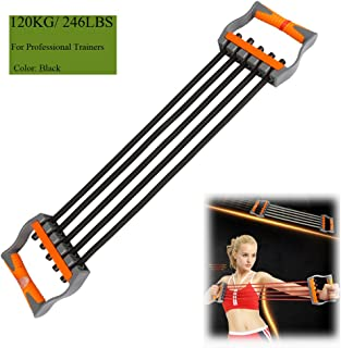 Ueasy Adjustable Chest Expander 5 Ropes Resistance Exercise System Bands Strength Trainer for Home Gym Muscle Training Exerciser