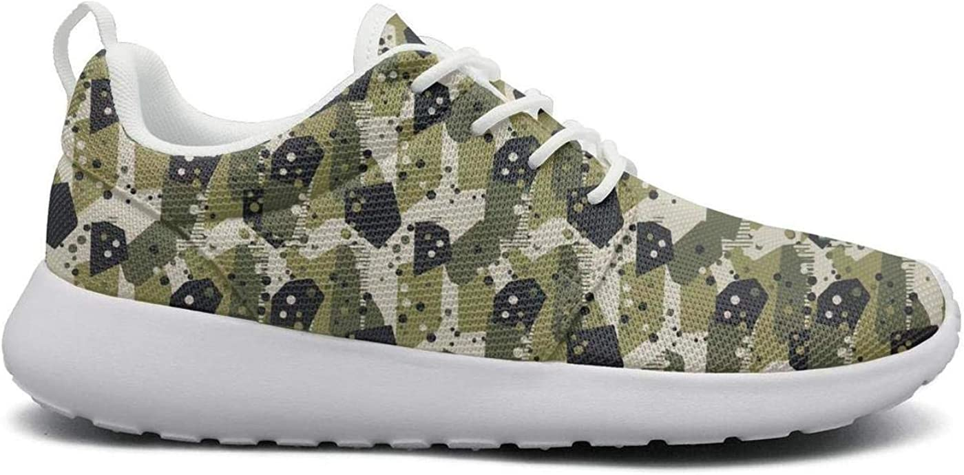 FGBCVBGFNDSF Breathable Lightweight Running Shoes Unisex Camouflage-Army