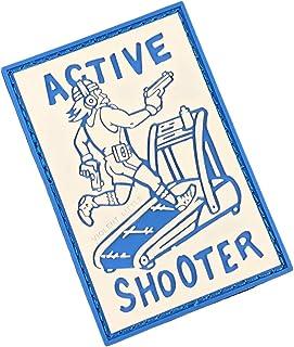 Active Shooter PVC Morale Patch by Violent Little Machine Shop - Tactical Velcro