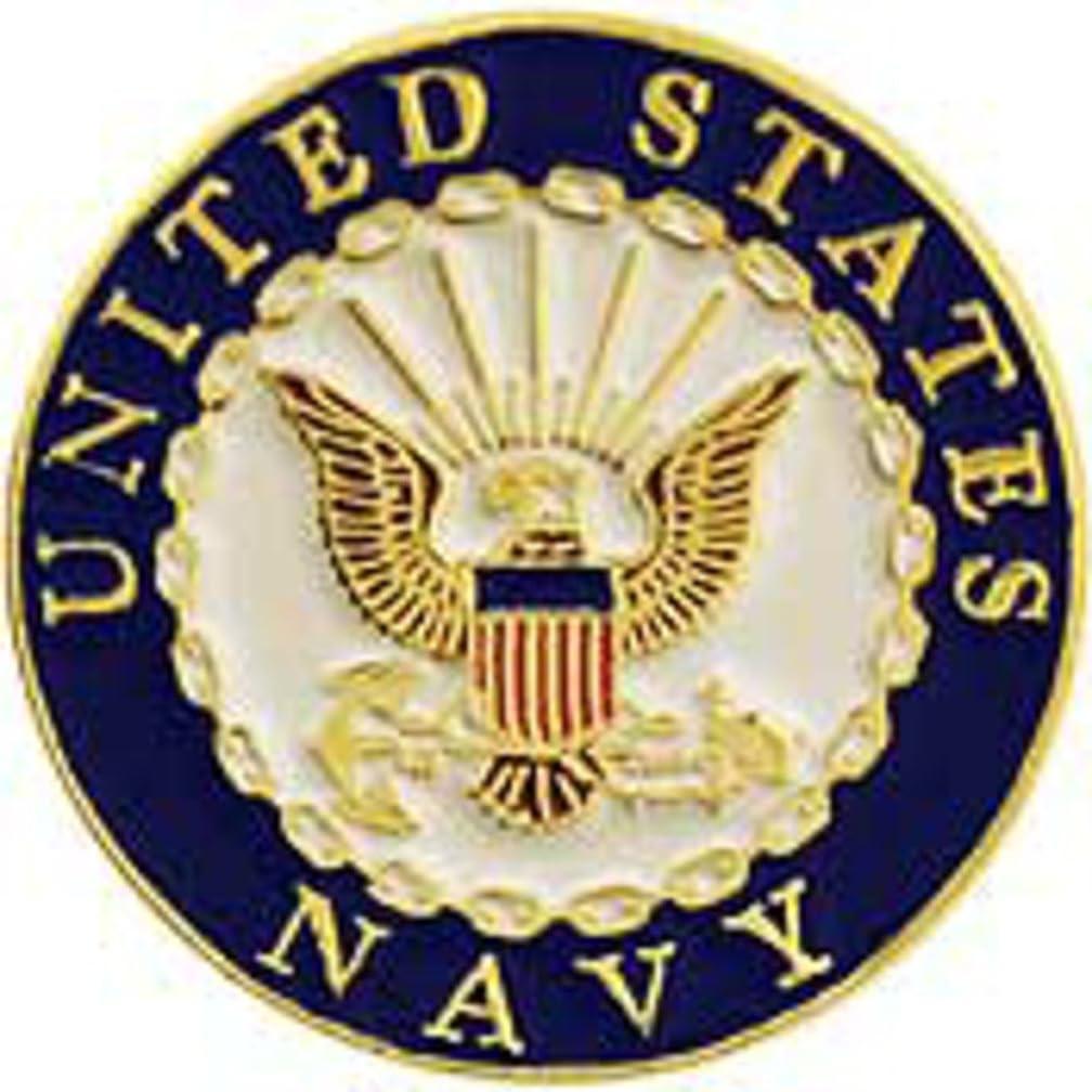 EagleEmblems P62549 Pin-USN Logo,Stamped (1'')