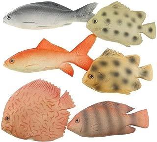 Gresorth 6 PCS Mini Fake Sea Creatures Fish Toy Model Home Party Kitchen Decoration