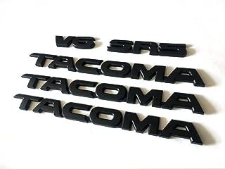 5pcs Sets Black TACOMA V6 SR5 Trunk Door & Tailgate Decal Emblem Sticker Badge