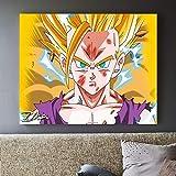 ARgnqu DIY Pintar por números Anime Dibujos Animados Goku Dibujos Animados Arte Personaje Lienzo de Pintura por números con Pincel y Pintura acrílica Pintura al óleo Kits de lie50X60cm(Sin Marco)