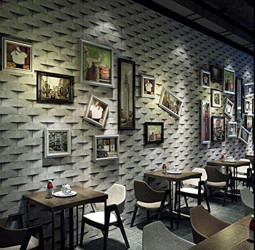 Cczxfcc 3D Stereoscopische Retro Retro Baksteen Behang Kleding Winkel Haar Winkel Melk Thee Winkel Koffie Shop Persoonlijkheid Behang