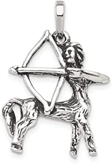 925 Sterling Silver Sagittarius Pendant Charm Necklace Zodiac Fine Jewelry Gifts For Women For Her