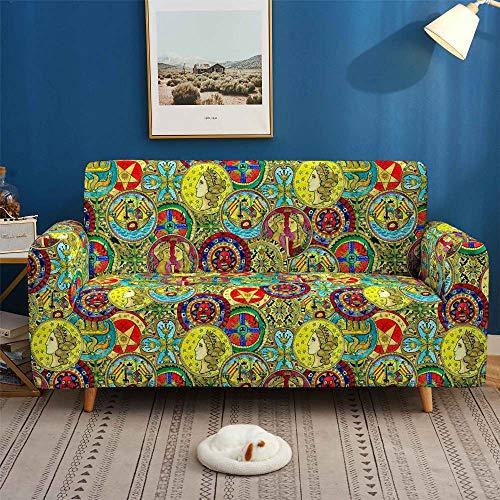 HXTSWGS Funda para sofá de Tela,City Night Scene 3D Sofa Cover, Elastic Stretch Sofa Cover, 1/2/3/4 Seater Sof Slipcover, Couch Covers for Livingroom-SGW002_1-Seat 90-140cm