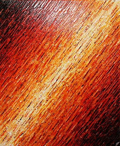 Reliefmalerei : Rote weiße Messerbeschaffenheit (61 x 50 cm).