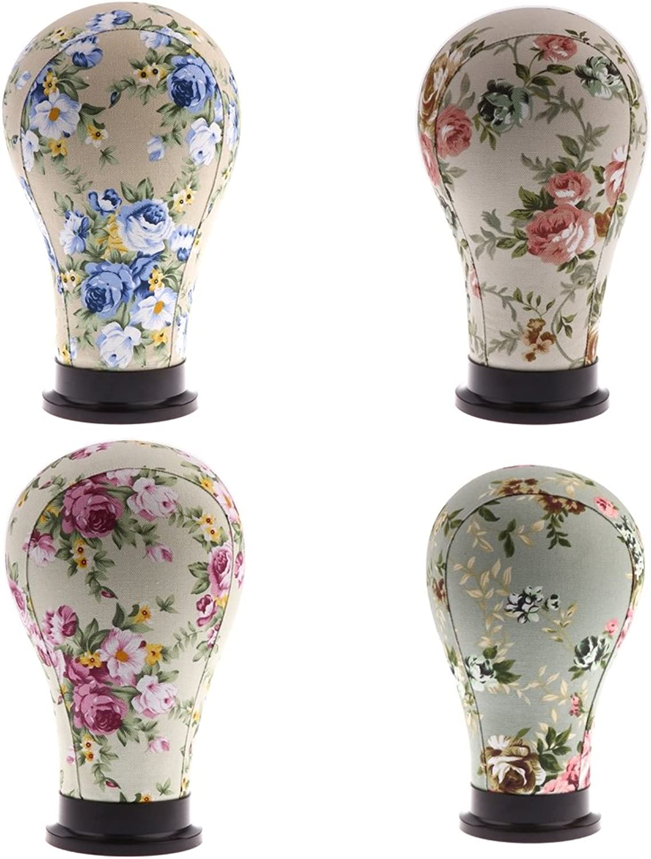 nuevo estilo IPOTCH 4x Cabeza de de de Maniquí de Lona de Moda Exhibición de Peluca Estilo Encantador Cautivador Embellecer  comprar ahora