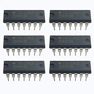CD4081BE Quad 2-Input and Gate Pack of 6