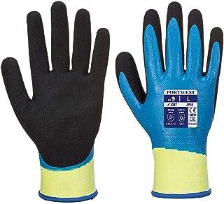 Portwest unisex Aqua Cut Pro Gloves (Blue/Black_Medium)