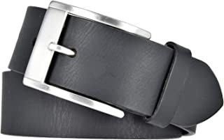 Mytem-Gear Herren Leder Gürtel 40mm - Kürzbarer Herrengürtel aus Vollrindleder schwarz