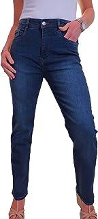 icecoolfashion Jeans Donna in Denim Elasticizzato con Gamba Dritta 42-54
