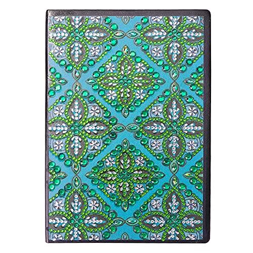 Cuaderno de pintura de diamante, para manualidades con cristales de forma especial, 50 páginas, inalámbrico, tamaño A5, regalo de cumpleaños (G)