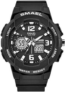 Women's Sport Wrist Watch,Quartz Dual Movement with Analog-Digital Display Watches for Women - Black