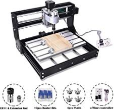 Upgrade Version CNC 3018 Pro GRBL Control DIY Mini CNC Machine, 3 Axis Pcb Milling Machine, Wood Router Engraver with Offline Controller, with ER11 and 5mm Extension Rod