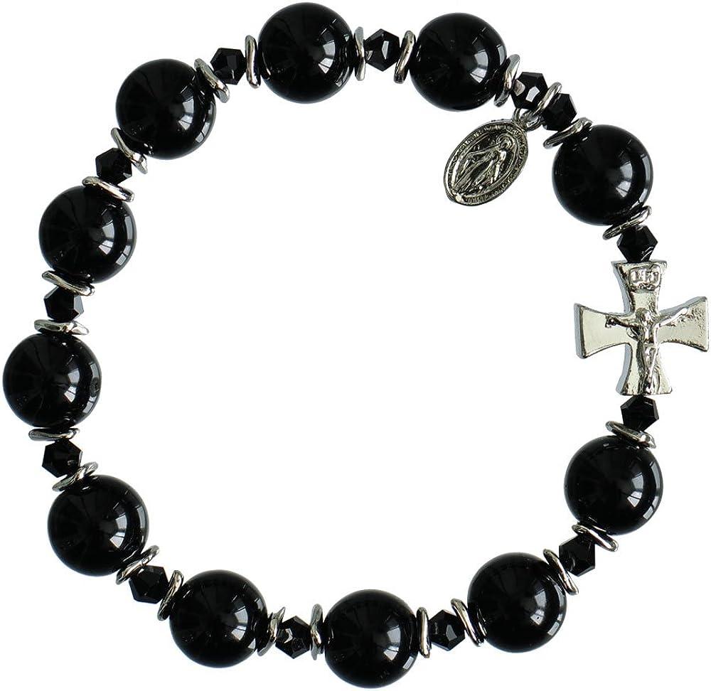 Sine Cera Some reservation Black Free shipping on posting reviews Onyx Rosary Bracelet 10mm