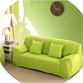 Solid Stretch Slipcover Three All-Inclusive Generic Leather Sofa Cushion Sofa Cover Towel Custom Summer Full cover1pcs,Green,Single seat Sofa