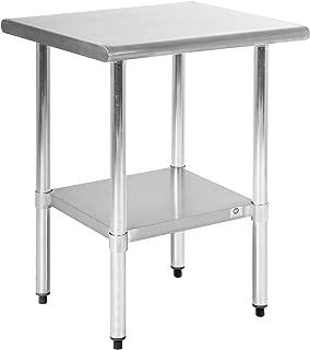 FDW Stainless Steel 24x24 Inch Kitchen Work Table, 24