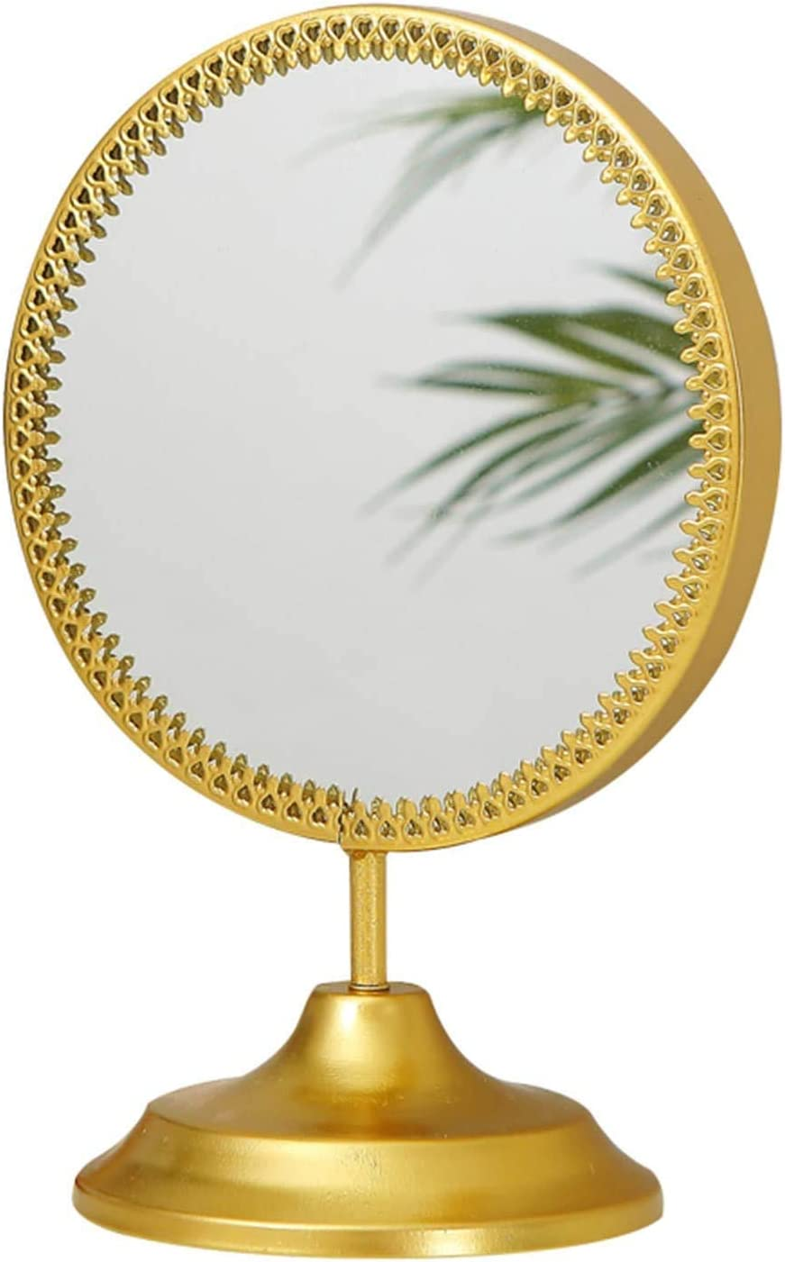 HLL Mirrors Small Decorative Desktop Directly managed store Round Mirror Makeup New item