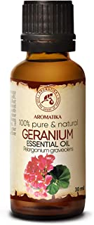 Aceite Esencial de Geranio Bourbon 30ml - Pelargonium Graveolens - Madagascar - 100% Puro y Natural para Belleza - Aromate...