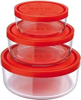 Frigoverre J600499 - Recipientes redondos T.roja Gelo juego