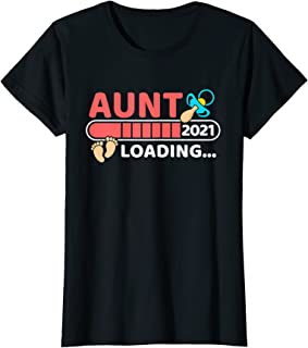 Femme Aunt 2021 Loading Devenir Bientôt Tatie Tata T-Shirt