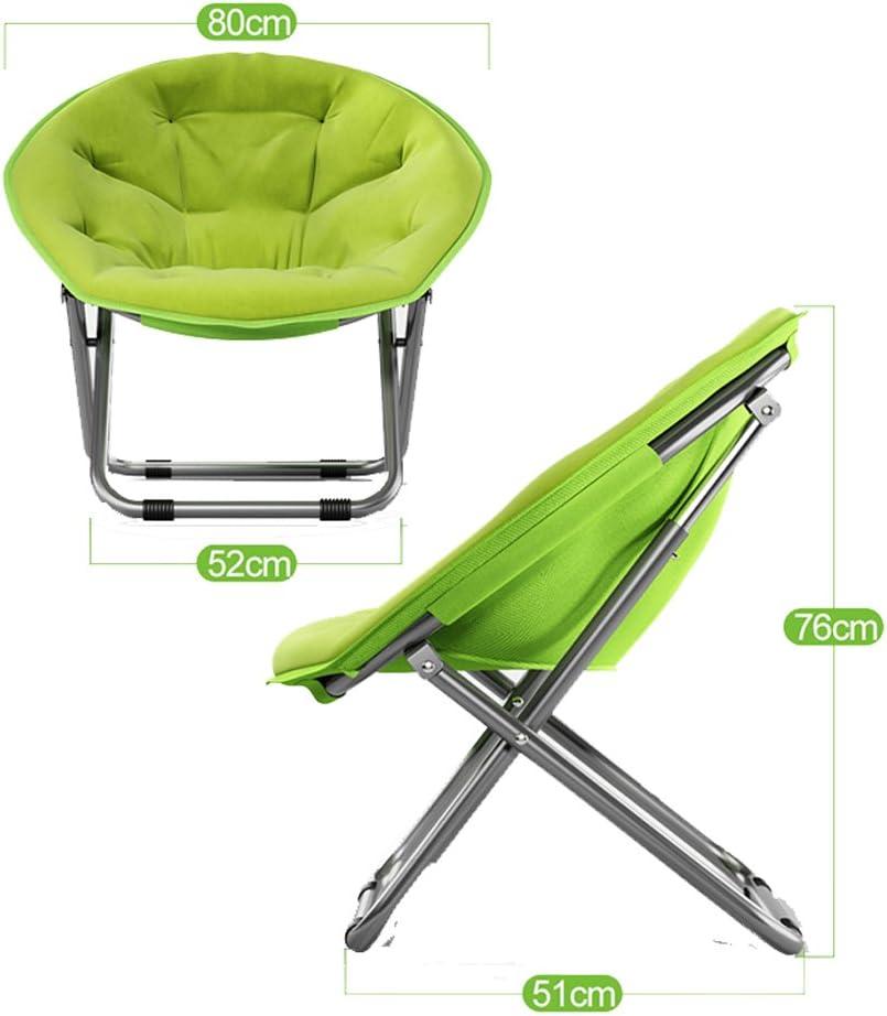 LYZZDY Yxsd Grand fauteuil pliable pour adulte Chaise de soleil droite en coton amovible Canapé rond inclinable portable (plusieurs couleurs) Vert