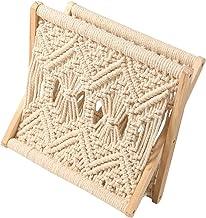 EXCEART Boho Macrame stojak na czasopisma dekoracyjne czasopisma uchwyt na ręcznik do przechowywania kosz rustykalna kultu...