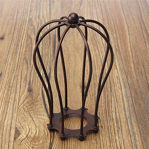 MASUNN 185mm DIY Vintage Pendentif Trouble Ampoule Garde Fil Cage Plafond Suspendu Abat-Jour-Rouillé