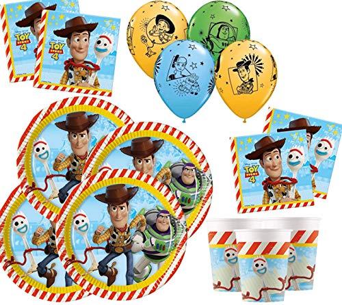 Toy Story Party Supplies Kids Deluxe Vajilla de cumpleaños Toy Story Paquete...