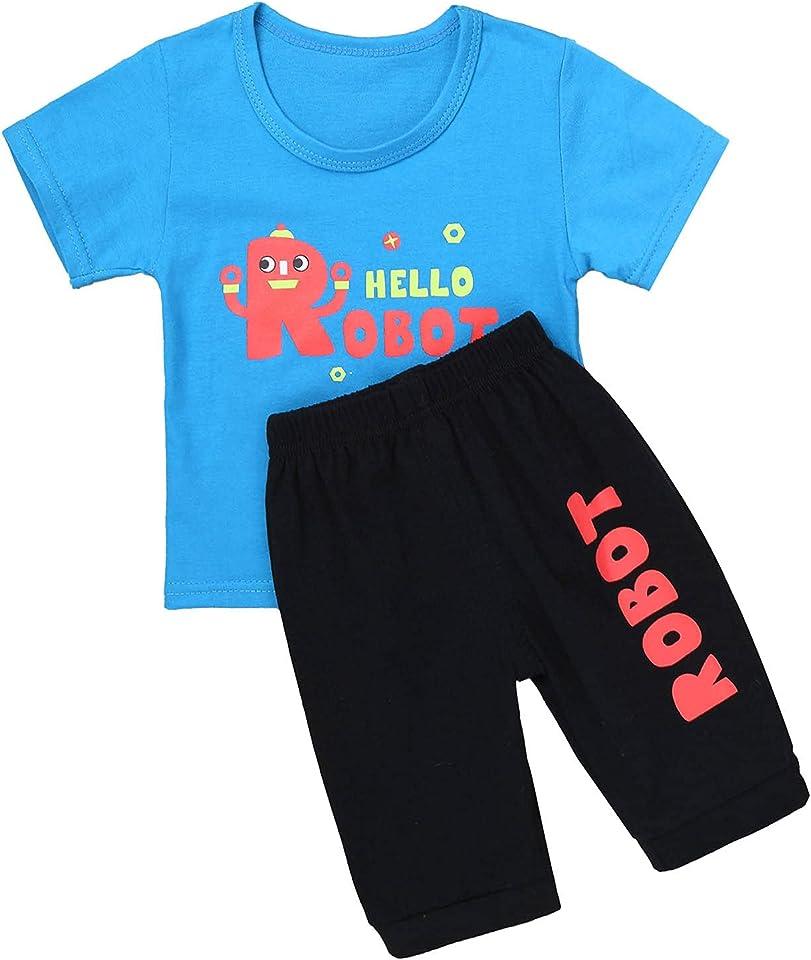 Baby Jungen Mädchen Kleidung Set Cartoon Tier Druck Kurzarm T-Shirt Tops mit Shorts Kurze Hosen Sommer Set Jogginganzug