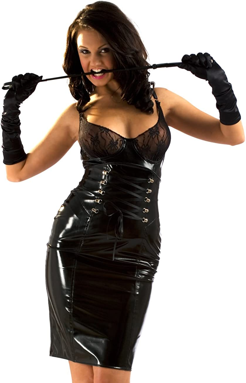 Honour Women's Pencil Skirt Hourglass Figure Design in PVC Black