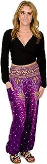 Happy Trunks Harem Pants Womens Plus Hippie Bohemian Yoga Elephant - High Waisted Baggy Trousers for Women