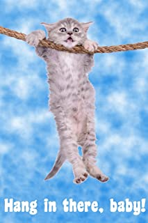 Hang in There Baby Cat Retro Motivational Cool Wall Decor Art Print Poster 12x18
