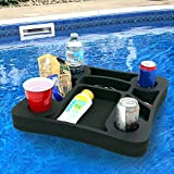 Polar Whale Floating Drink Holder Refreshment Table Tray for Pool Beach Party Float Lounge Durable Foam 17.5 Inches Large 10 Compartments UV Resistant