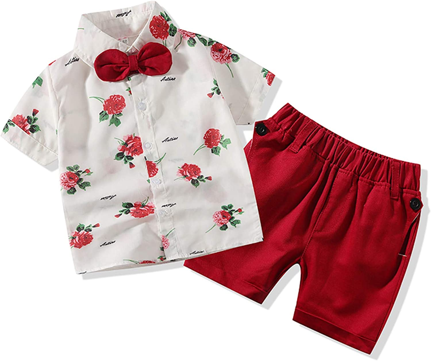 Sale SALE% OFF Gentleman Outfits Suits Infant Max 50% OFF Short B Sleeve Shirt+ Pants Baby