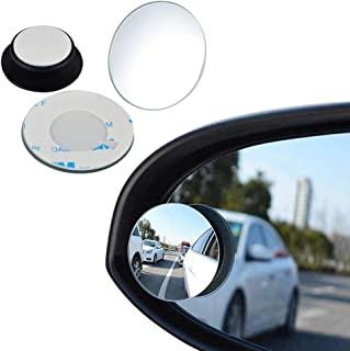 Blind Spot Mirrors, Round Frameless 360° Rotate Sway Adjustable HD Glass Convex Mirror Maximize Rearview Universal for Car SUV Trucks
