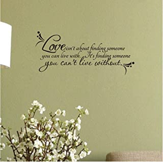 Love Wall Quotes Decal Room Decor Love Isn't About Finding. Vinyl Wall Stickers Ebay 83x37cm