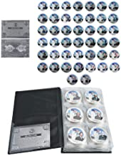 All 45 US President Commemorative 44-Coin Full Set Colorized Silver Plated Coin w/Album,A Great Gift for Coin Collecting Starter Holders,Husband, Father, Friends,Fans,Father's Day