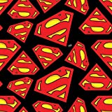 Superman Logo - Flanell - ab 0,5 Meter